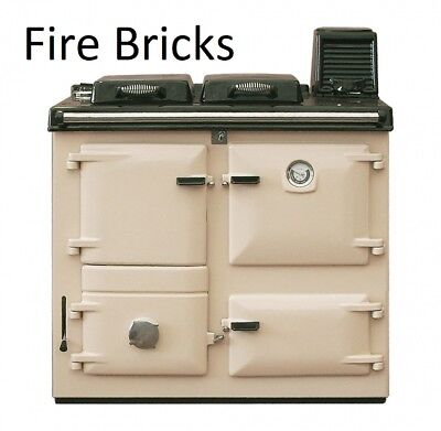 £77.20 • Buy Rayburn Nouvelle/Supreme Fire Bricks Set Of 7 Firebricks 355sfw Clay Cooker