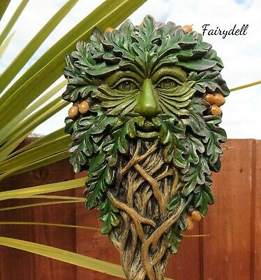 £15.95 • Buy  'all Seeing Oak' Green Man Wall Plaque ~ Tree Spirit Forest Wood Sprite~pagan
