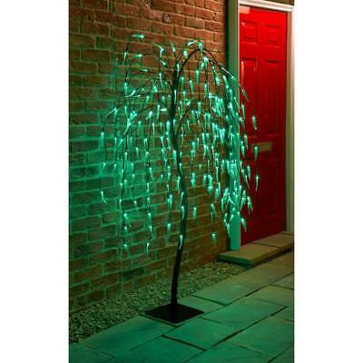 Solar Powered 4ft/5ft/6ft/70cm/82cm Cone/Topiary Trees/Leaf Branch Lights Garden • 12.99£