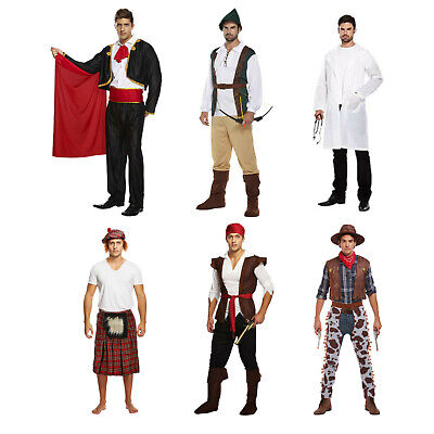 £15.50 • Buy Adult Male Mens Fancy Dress Dressing Up Costume Outfit Gangster Cowboy Matador