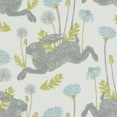 Clarke And Clarke March Hare Mineral Cotton PVC WIPE CLEAN Tablecloth Oilcloth • 6.99£