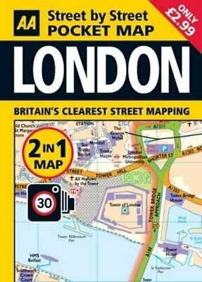 £2.49 • Buy Pocket Map London 2-in-1 By AA Publishing Book The Cheap Fast Free Post