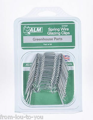 Pack Of  50 Greenhouse Spring Wire W Window Glazing Clips • 5.99£