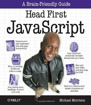 £8.99 • Buy Head First JavaScript By Michael Morrison Paperback Book The Cheap Fast Free