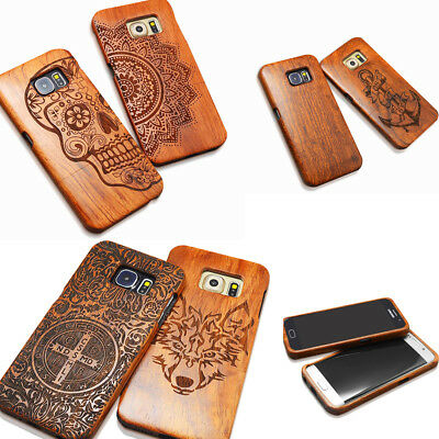 AU19.99 • Buy 100% Real Wood Case Handmade Wooden Cover For Samsung S9/S9+/S8/S8 Plus/S7/Edge