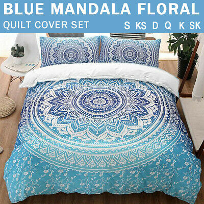 AU33 • Buy Oriental Mandala/Doona/Duvet/Quilt Cover Set Single/Double/Queen/King Size Bed
