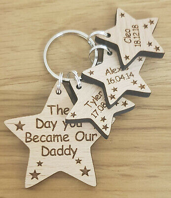 £4.50 • Buy Personalised Gifts For Him Fathers Day Gift Keyring Day You Became My Daddy Dad