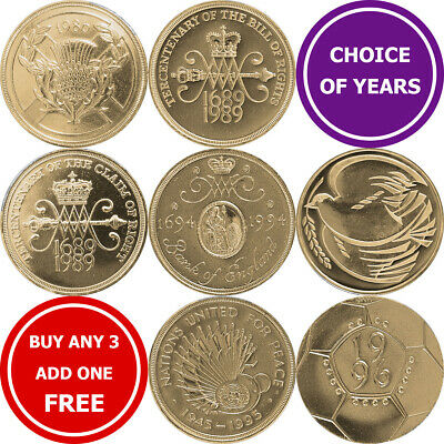 Decimal £2 Two Pound Commemorative Coins - 1986 - 1996 • 3.49£