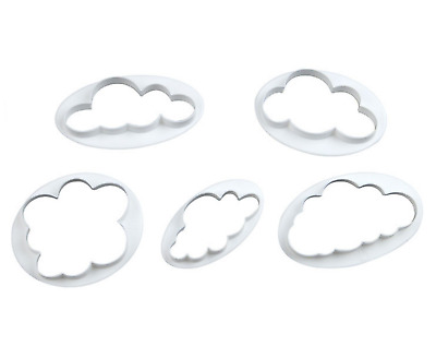 Cloud Shaped Cookie Cutter Press Pastry Biscuit Cake Sugar Icing Mould 5 Pcs Set • 3.95£