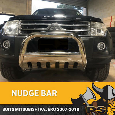 AU269.10 • Buy Nudge Bar 3  Stainless Steel Grille Guard To Suit Mitsubishi Pajero 2007-2018