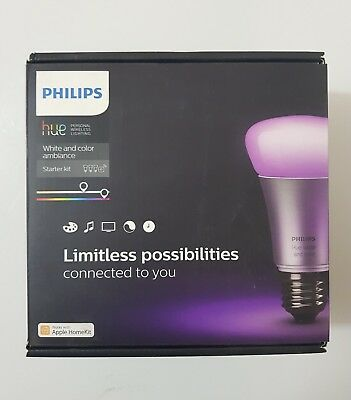 AU243.43 • Buy Philips Hue White And Colour Ambiance Starter Kit Brand New