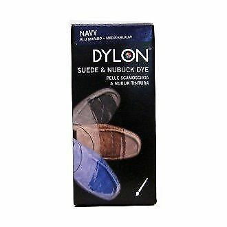 DYLON Leather Dye Shoe Boot Shoes & Applicator Fabric Brush Colour NAVY BLUE • 6.61£