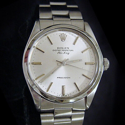 $ CDN4108.38 • Buy Rolex Air King Mens Stainless Steel Precision Watch Oyster Band Silver Dial 5500