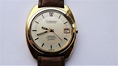 AU1736.57 • Buy OMEGA Constellation F300HZ Electronic 198.002 Vintage Watch Gold Cap