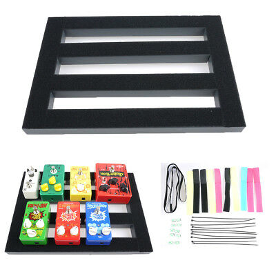 $ CDN55.54 • Buy Bass Guitar Effect Pedalboard Setup Pedal Board With Magic Tape Cable Cord Strap