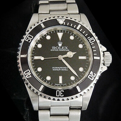 $ CDN10883.27 • Buy Rolex Submariner Stainless Steel Watch Black Dial Bezel Mens No Date Sub 14060