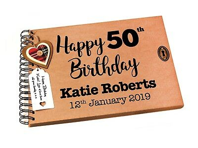 £12.95 • Buy Personalised 50th Birthday Photo Album, Scrapbook, Party Guestbook, 50, A4/A5