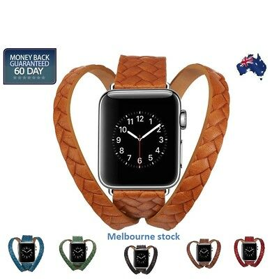 AU31.18 • Buy Leather Apple Watch Band Wrist Watch Band Strap Single IWatch 5 4 3 2 1 38/42mm