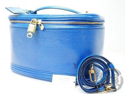 Auth Pre-owned Louis Vuitton Epi Blue Nice Vanity Cosmetic Bag Key M48015 181025 • 908.81£