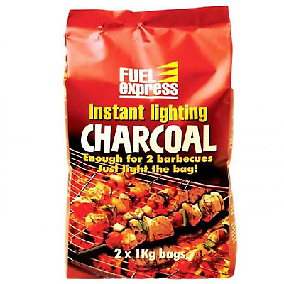 $ CDN45.66 • Buy Instant Lighting Charcoal BBQ Barbecues Grill Open Fire Outdoor 2 X 1Kg Bags