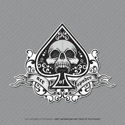 Ace Of Spades Skull Sticker Decal Laptop PC IPad Skateboard Poker - SKU2964 • 2.99£