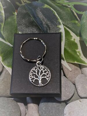 £3.50 • Buy  Tree Of Life Keyring/Bag Charm. Handmade Silver Plated Supplied In Gift Box