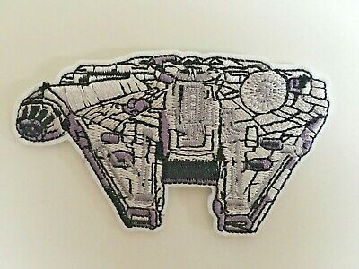Star Wars Millennium Falcon Embroidered Iron On / Sew On Patches Badges  • 3.50£