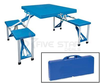 Outdoor Portable Folding Picnic Table Camping Bbq Party Garden Chairs Stools Set • 131.95£