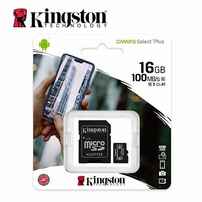 AU7.50 • Buy Micro SD Card Kingston 16GB Class10 SDHC Mobile Memory Canvas Plus Select 100Mbs