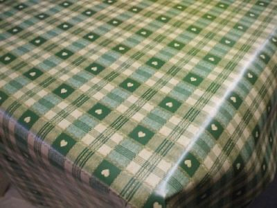 £7.69 • Buy Sweetheart Check Green PVC Vinyl Wipe Clean Oilcloth Tablecloth