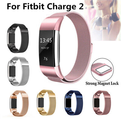 AU6.92 • Buy Stainless Milanese Magnetic Loop Band Strap For FitBit Charge 2 Watch Wristband