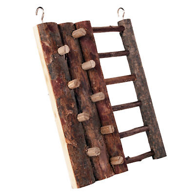 Pet Ting Natural Hamster Climbing Wall Ladder Wood Toy Mouse Gerbil Etc 16×20cm • 7.99£