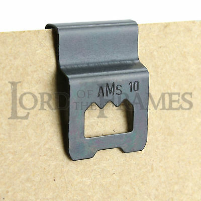 Friction Sawtooth Hanger Black Clip Over Edge Of 3mm Backing Board Picture Frame • 2.95£
