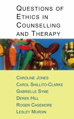 £7.49 • Buy Questions Of Ethics In Counselling And Therapy By Jones, . Paperback Book The