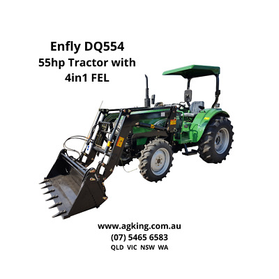 AU23990 • Buy 55hp Tractor 4 In 1 Front End Loader
