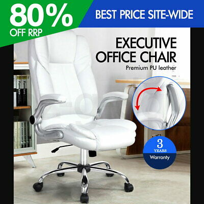 AU144.90 • Buy PU Leather Executive Office Desk Chair - White