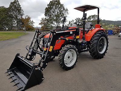 AU27990 • Buy New 70hp Tractor 4WD With FEL And 4 In 1 Bucket.  Flat Floor - 3 Years Warranty