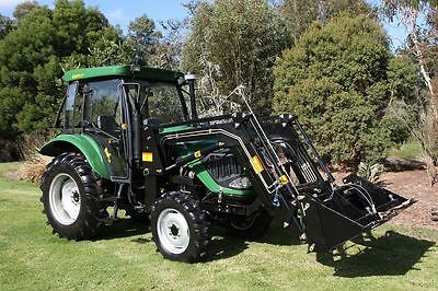 AU26990 • Buy 55hp Tractor For Sale Air Con Cabin + Front End Loader 4in1 Bucket 3 Tonne