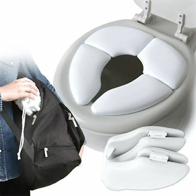 Baby Folding Padded Potty Cushion Seat Kids Portable Toilet Training Seat • 6.55£