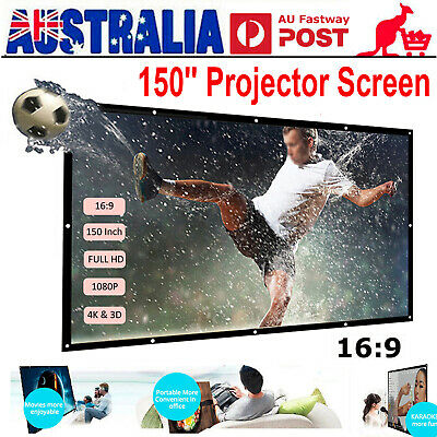 AU24.95 • Buy Foldable Projector Screen 16:9 HD Outdoor Home Cinema Theater 3D Movie Portable