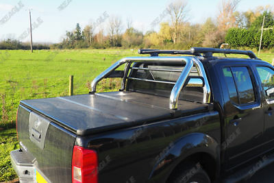 AU553.56 • Buy To Fit Nissan Navara D40 Stainless Steel Hawk Roll Bar Fits With Tonneau Covers
