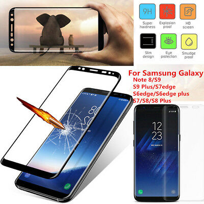 $ CDN3 • Buy Full Cover Tempered Glass Screen Protector For Samsung Galaxy Note 8 S7Edge