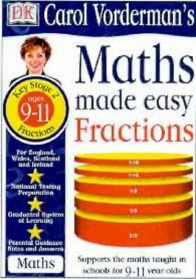 Maths Made Easy Topic Book: Fractions KS2 Upper... By Vorderman, Carol Paperback • 12.99£