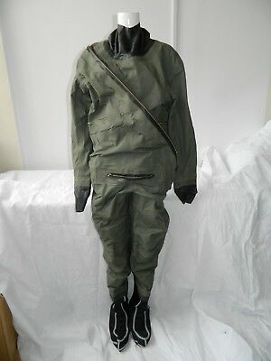 Ex RAF Coverall Immersion Suit, MK1, Size 5, Choice Of Boot Size [GR2E] • 59.99£