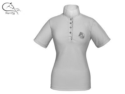£26.61 • Buy Elico Crystal Aerocool Girls Technical Competition Show Shirt Jumping Dressage