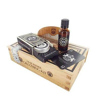 Premium Mens Beard Care Grooming Gift Box Set Kit / Oil Moustache Wax And Comb • 27.99£