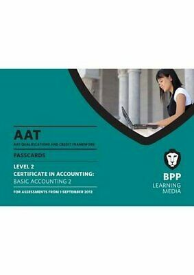 AAT - Basic Accounting 2: Passcard (L2) By Bpp Learning Media Book The Cheap • 11.99£