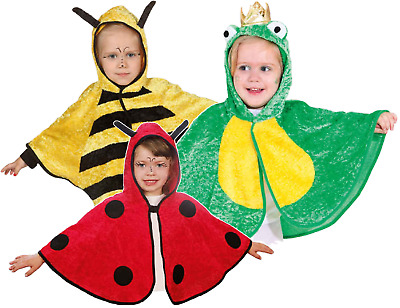 Toddler Boys Girls Mini Beast Bee Frog Ladybird Fancy Dress Costume Outfit Cape • 14.99£