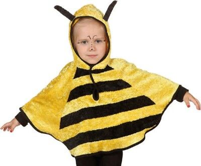 Childs Girls Boys Bumble Bee Animal Insect Hood Cape Fancy Dress Costume Outfit • 14.99£