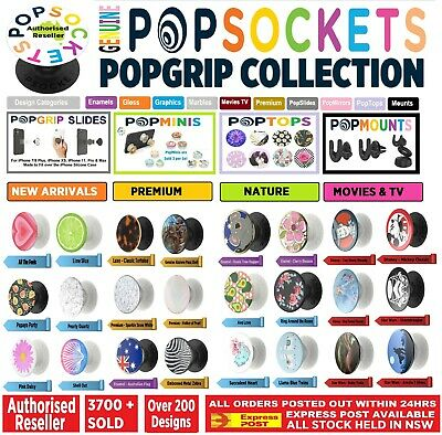 AU15.95 • Buy Genuine PopSockets Pop Grip Socket Mirror Swapabble Phone Car Holder Stand Mount